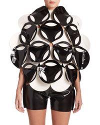 Junya Watanabe Faux-Leather Circle Top black - Lyst