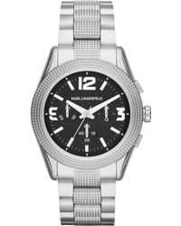 Karl Lagerfeld Unisex Chronograph Kurator Stainless Steel Bracelet Watch 42mm - Lyst