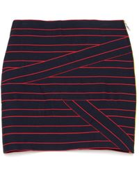 Band of Outsiders Twisted Suspender Skirt blue - Lyst