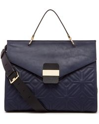 Trina Turk Kings Road Satchel (Quilted) blue - Lyst