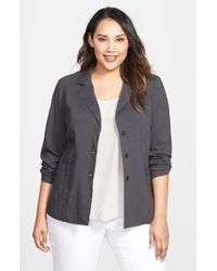 Eileen Fisher Notch Collar Shaped Jacket - Lyst