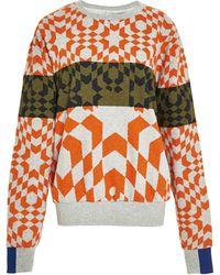 Preen Printed Cottonblend Sweatshirt - Lyst