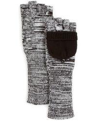 Aqua - Pop Top Long Knit Gloves - Lyst