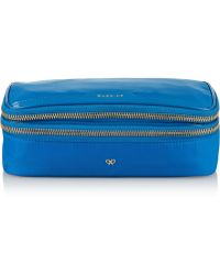 Anya Hindmarch Makeup Patent Leathertrimmed Cosmetic Case - Lyst