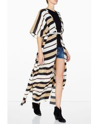By Malene Birger Prama Stripe Silk Kaftan Jacket - Lyst