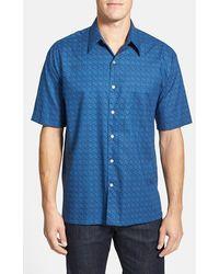 Tori Richard 'Eyeris' Regular Fit Short Sleeve Cotton Lawn Sport Shirt - Lyst