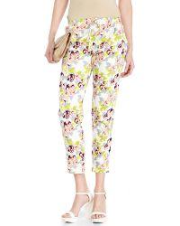 Alysi Floral Print Cropped Sweatpants - Lyst