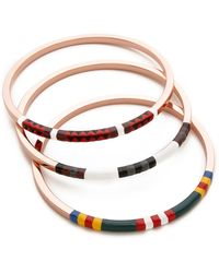 Tory Burch Multicolor Skinny Bangle Set - Multi/Rose Gold - Lyst