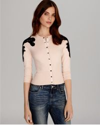 Karen Millen Cardigan Lace Collection - Lyst