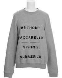 Anthony Vaccarello Sweatshirt - Lyst