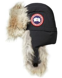 Canada Goose - Aviator Coyote-Trimmed Trapper Hat - Lyst