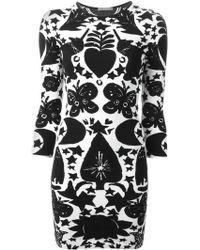 Alexander McQueen Naive Pagan Jacquard Dress - Lyst