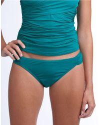 Badgley Mischka - Shirred Hipster Swim Bottom - Lyst
