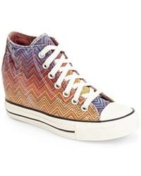 Converse Chuck Taylor All Star Lux X Missoni Collection Wedge Sneaker - Lyst