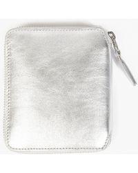 Comme des Garçons | Silver Classic Leather Wallet | Lyst