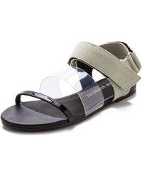 Cheap Monday - Saviour Flat Sandals Black - Lyst
