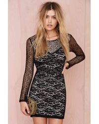 Nasty Gal Raina Lace Dress - Lyst