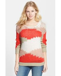 Two By Vince Camuto Mixed Yarn Intarsia Tunic - Lyst