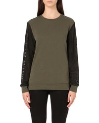 5cm - Mesh-sleeve Cotton-jersey Sweatshirt - Lyst