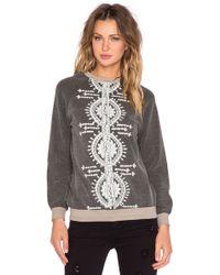 Hemant & Nandita - Embroidered Crew Neck Sweatshirt - Lyst