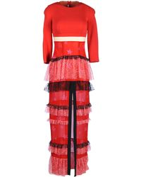 Alessandra Rich Long Dress red - Lyst