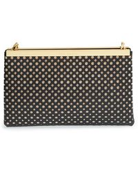 Ted Baker Perforated Leather Clutch - Lyst