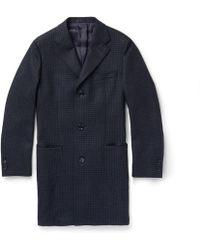 Thom Sweeney Checked Wool Overcoat - Lyst