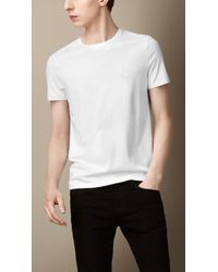 Burberry Liquid Soft Cotton Tshirt - Lyst
