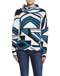 Townsen - Popova Geometric-print Sweater - Lyst