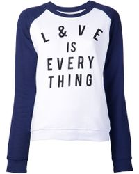 Zoe Karssen Love Everything Tshirt - Lyst