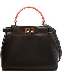 Fendi Mini Peekaboo Tricolor Bag - Lyst