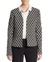 Ellen Tracy Diamond-Print Jacket - Lyst