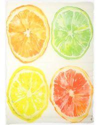 Maison Passage - Citrus Fruit Print Scarf - Lyst