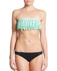 L*Space Knotted Fringe Bandeau Bikini Top - Lyst