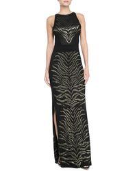 Roberto Cavalli Sleeveless Tiger-print Gown - Lyst