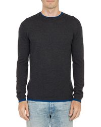 Barneys New York Layered Pullover Sweater - Lyst