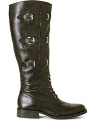 Vince Camuto Black Fenton Buckle Boots - Lyst