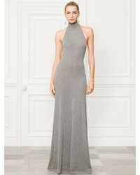 Ralph Lauren Collection Cashmere Halter Dress - Lyst