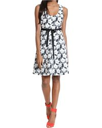 Plenty by Tracy Reese Floral Print Belted A-Line Dress - Lyst