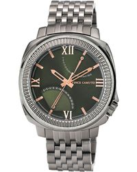 Vince Camuto - Mens Silvertone Bracelet Watch with Olive Green Dial - Lyst
