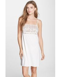 Calvin Klein 'Reveal' Lace Detail Chemise - Lyst