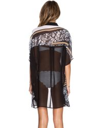 Clover Canyon - Scribble Scarf Caftan - Lyst