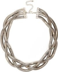 River Island Silver Tone Chunky Twisted Necklace - Lyst