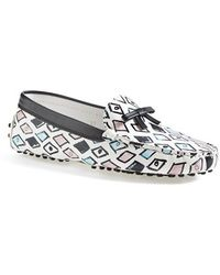Tod's 'Gommini' Bow Leather Driving Moccasin - Lyst