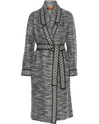 Missoni Belted Knitted Coat - Lyst