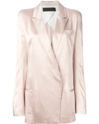 Haider Ackermann Double Breasted Blazer - Lyst