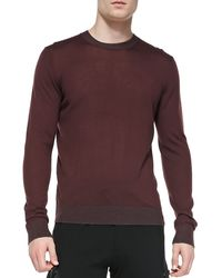 Michael Kors Collection Light Weight Wool Pullover Sweater - Lyst