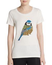 French Connection Sequined Bird Tee - Lyst