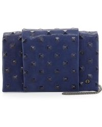 Halston Heritage Studdebossed Wallet On Chain - Lyst