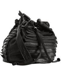 Collina Strada - Jet Black Leather Sierra Crossbody Bag - Lyst